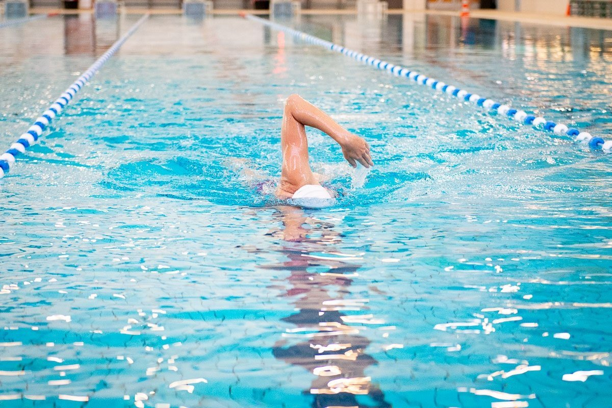 Borstcrawl zwemmen