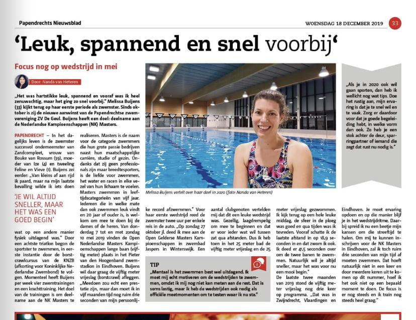 Interview Papendrechts nieuwsblad