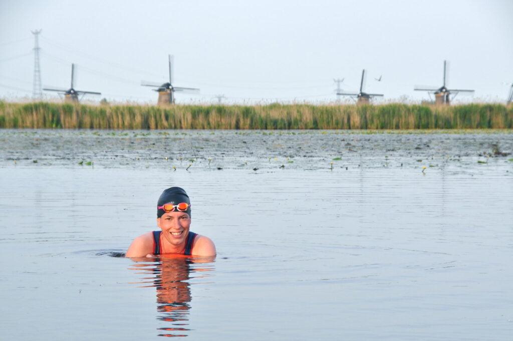 zwemmen in koud water