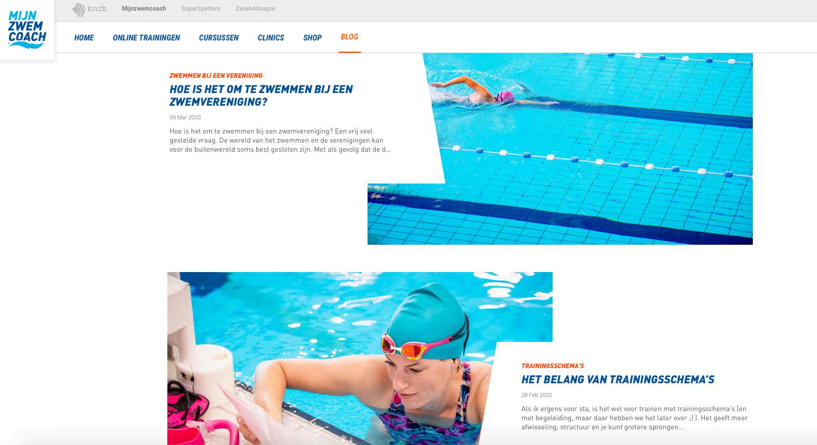Blogs mijnzwemcoach